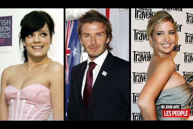 Lily Allen, David Beckham et Ivanka Trump.