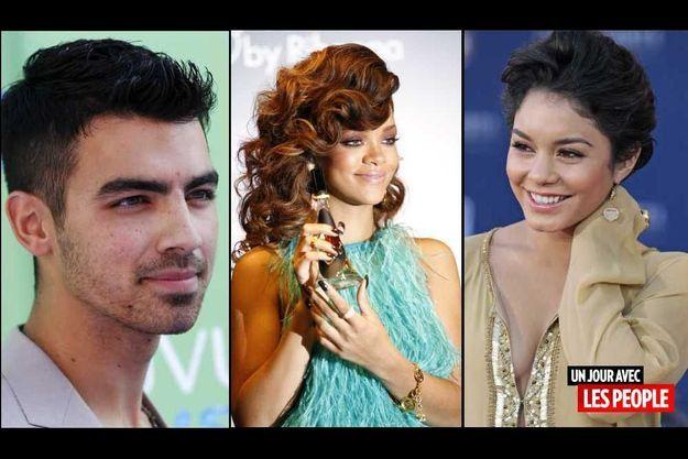 Joe Jonas, Rihanna et Vanessa Hudgens.