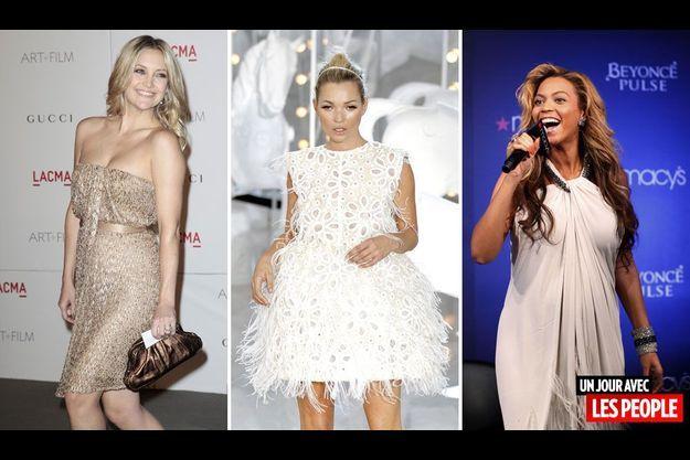 Kate Hudson, Kate Moss et Beyoncé.