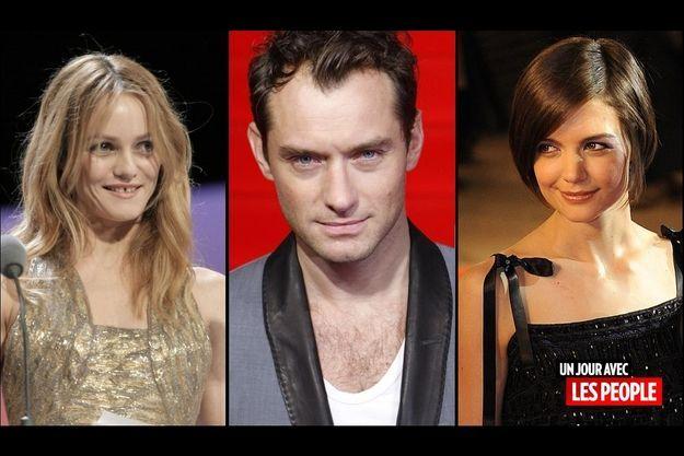 Vanessa Paradis, Jude Law et Katie Homes.