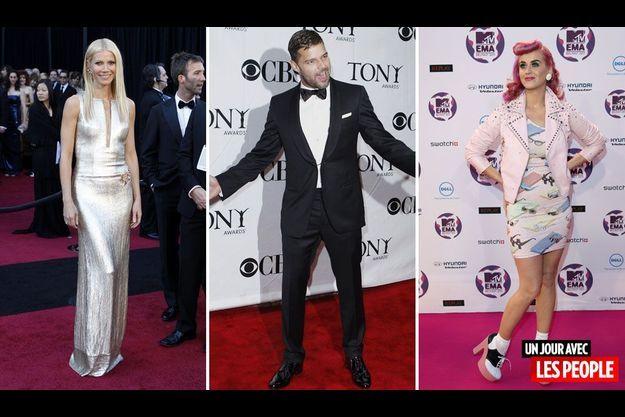 Gwyneth Paltrow, Ricky Martin et Katy Perry.