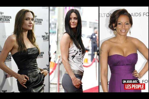 Angelina Jolie, Courteney Cox et Mel B.