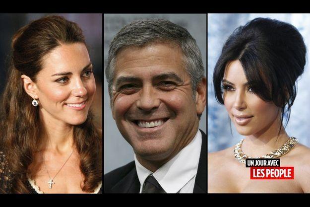 Kate Middleton, George Clooney et Kim Kardashian