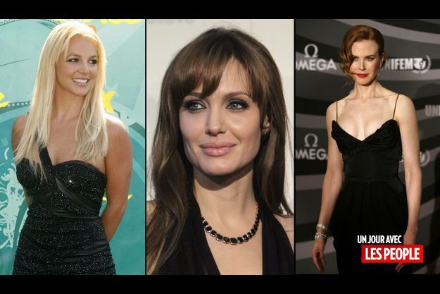 Britney Spears, Angelina Jolie et Nicole Kidman.