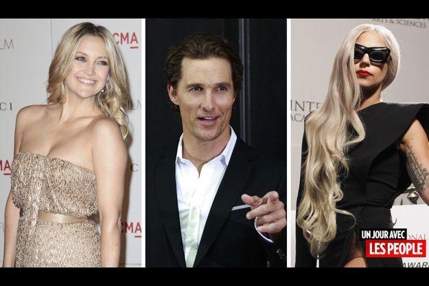 Kate Hudson, Matthew McConaughey et Lady Gaga.