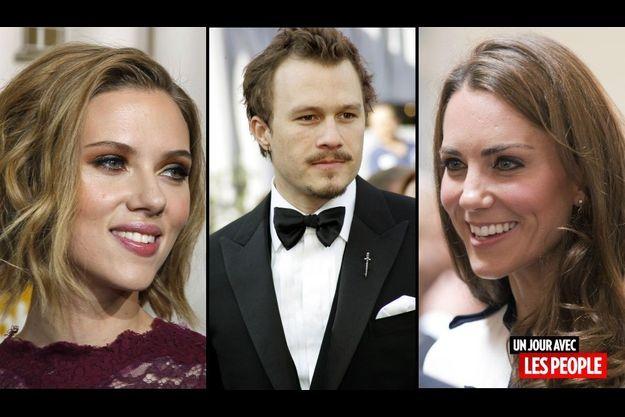 Scarlett Johansson, Heath Ledger et Kate Middleton
