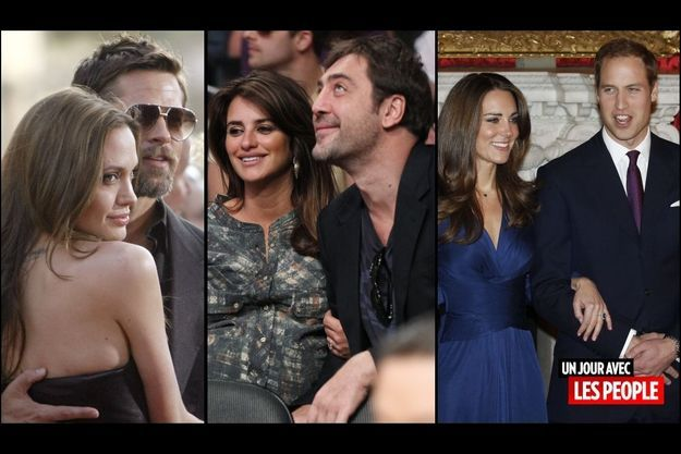 Brad Pitt et Angelina Jolie, Penelope Cruz et Javier Bardem, le Prince William et Kate Middleton