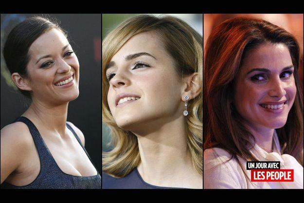 Marion Cotillard, Emma Watson et Rania de Jordanie