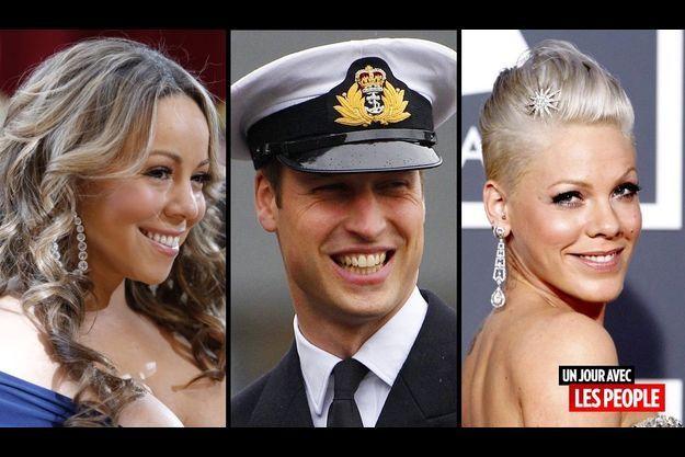 Mariah Carey, le prince William et Pink