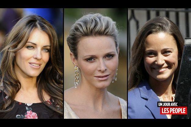 Liz Hurley, Charlene Wittstock et Pippa Middleton