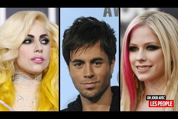 Lady GaGa, Enrique Iglesias et Avril Lavigne