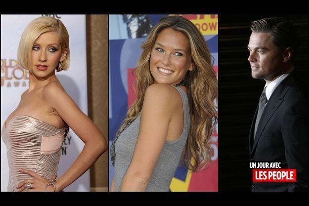 Christina Aguilera, Bar Refaeli, Leonardo DiCaprio