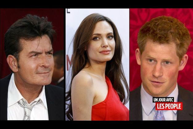Charlie Sheen, Angelina Jolie et le prince Harry