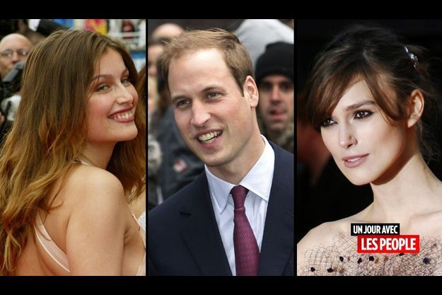 Laetitia Casta, le prince William et Keira Knightley