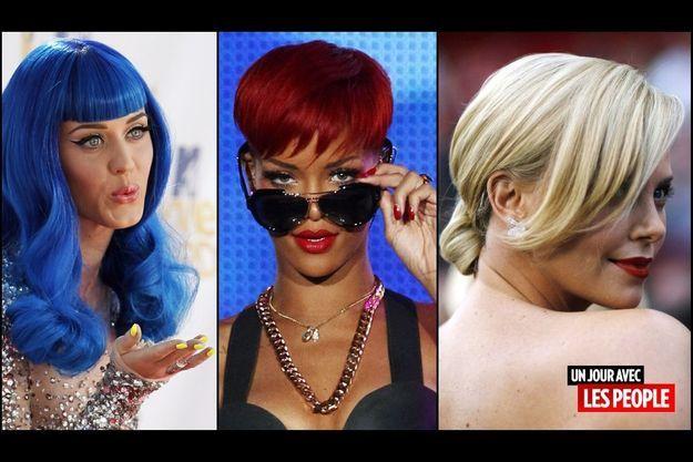 Katy Perry, Rihanna, Charlize Theron