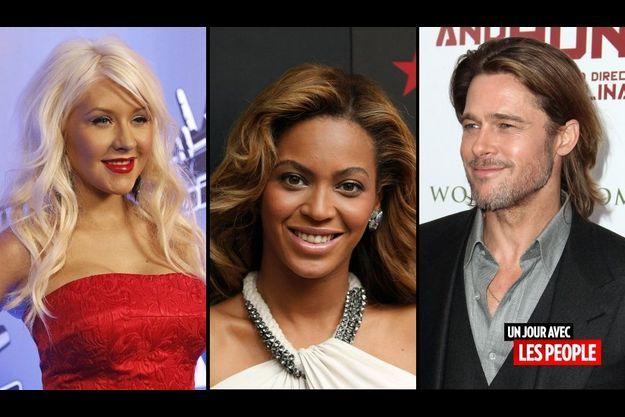 Christina Aguilera, Beyoncé et Brad Pitt