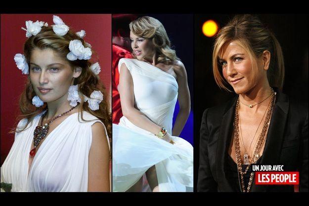 Laetitia Casta, Kylie Minogue et Jennifer Aniston