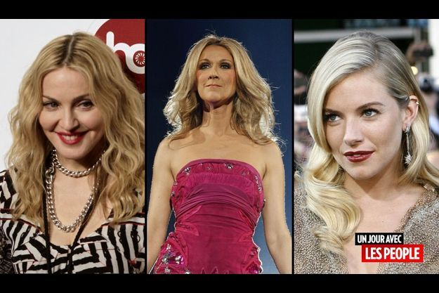Madonna, Célilne Dion et Sienna Miller