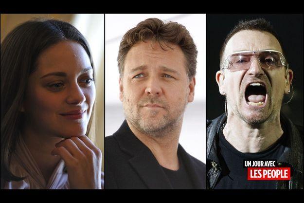 Marion Cotillard, Russell Crowe et Bono