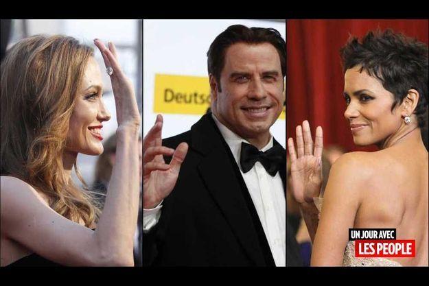 Angelina Jolie, John Travolta et Halle Berry.