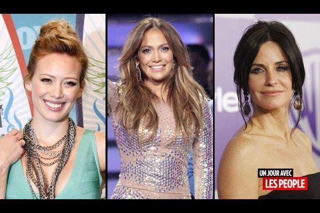 Hilary Duff, Jennifer Lopez et Courteney Cox