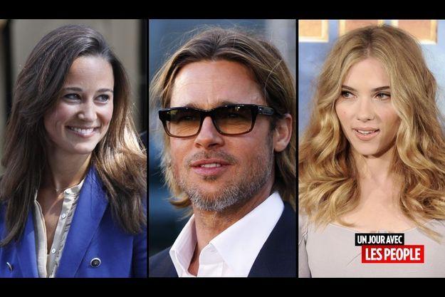 Pippa Middleton, Brad Pitt et Scarlett Johansson