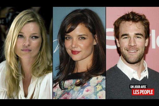 Kate Moss, Katie Holmes et James Van Der Beek.