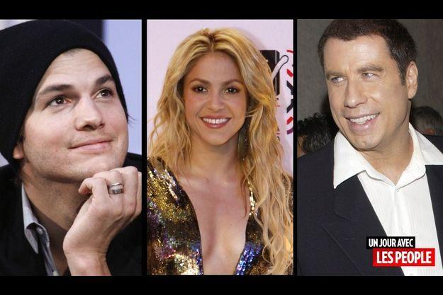 Ashton Kutcher, Shakira et John Travolta.