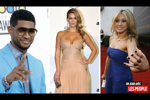 Usher, Bar Refaeli et Hilary Duff.