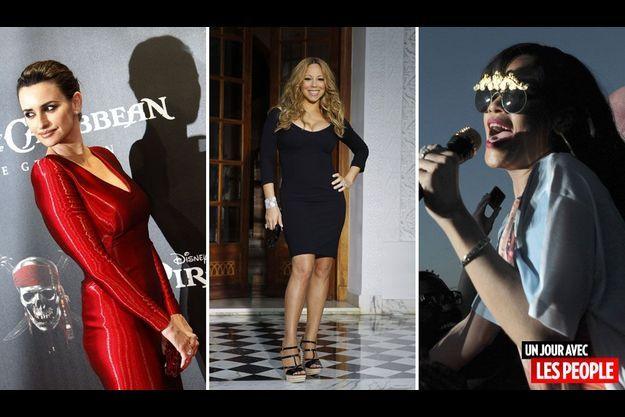 Penélope Cruz, Mariah Carey et Rihanna.