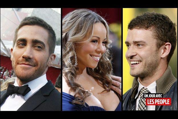 Jake Gyllenhaal, Mariah Carey, Justin Timberlake