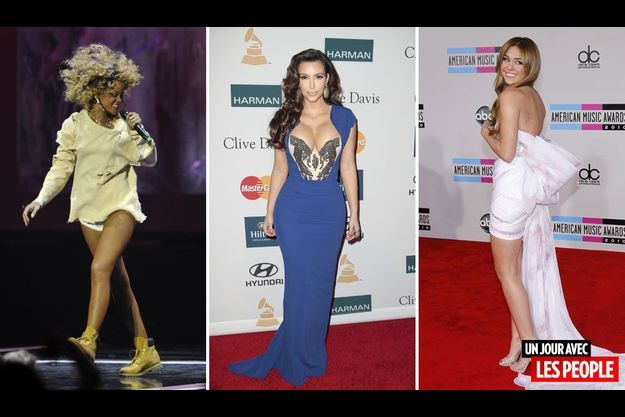 Rihanna, Kim Kardashian, Miley Cyrus.