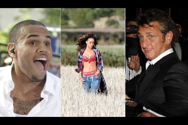 Chris Brown, Rihanna et Sean Penn