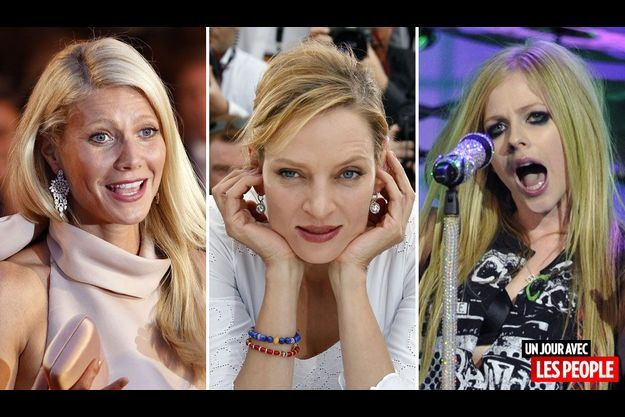 Gwyneth Paltrow, Uma Thurman et Avril Lavigne.