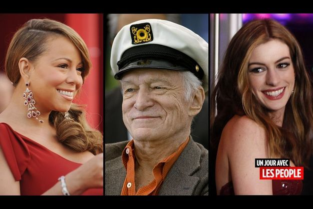 Mariah Carey, Hugh Hefner et Anne Hathaway
