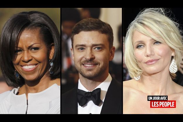Michelle Obama, Justin Timberlake et Cameron Diaz