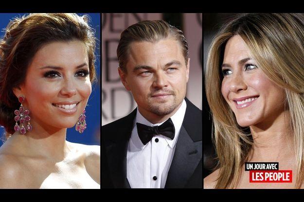 Eva Longoria, Leonado DiCaprio et Jennifer Aniston