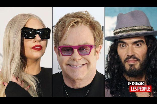 Russell Brand, Paris Hilton, Elton John