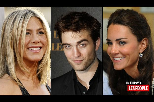 Jennifer Aniston, Robert Pattinson et Kate Middleton