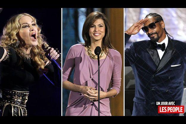 Madonna, Eva Mendes et Snoop Dogg.