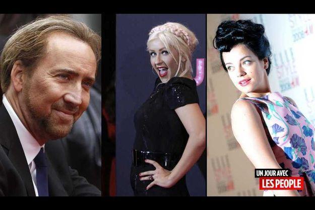 Nicolas Cage, Christina Aguilera et Lily Allen.