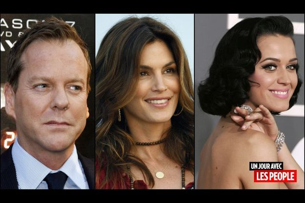 Kiefer Sutherland, Cindy Crawford et Katy Perry