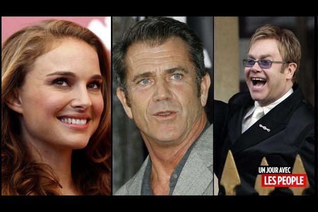 Natalie Portman, Elton John, Mel Gibson