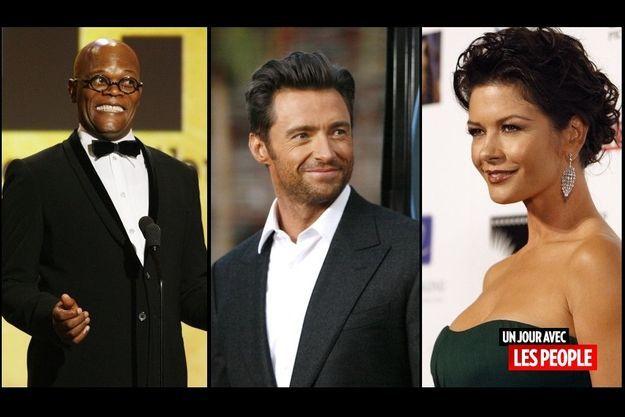 Samuel L. Jackson, Hugh Jackman et Catherine Zeta-Jones.