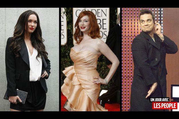 Megan Fox, Christina Hendricks et Robbie Williams.