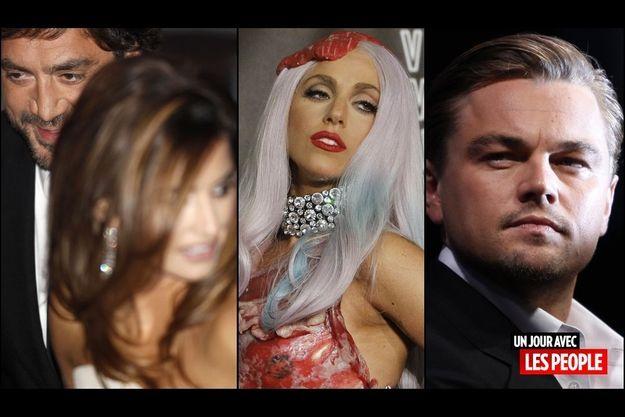 Penelope Cruz et Javier Bardem, Lady GaGa, Leonardo DiCaprio