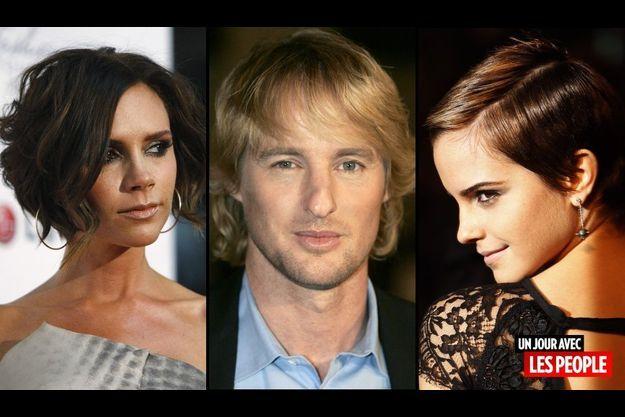 Victoria Beckham, Owen Wilson et Emma Watson.