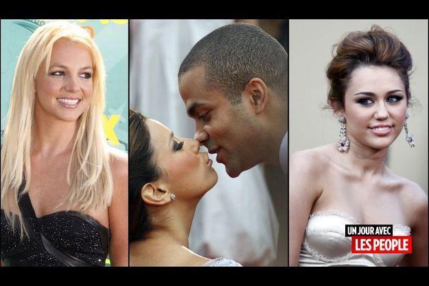 Britney Spears, Eva Longoria et Tony Parker, Miley Cyrus