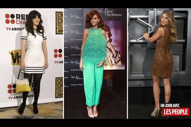 Zooey Deschanels, Rihanna et Elsa Pataky.