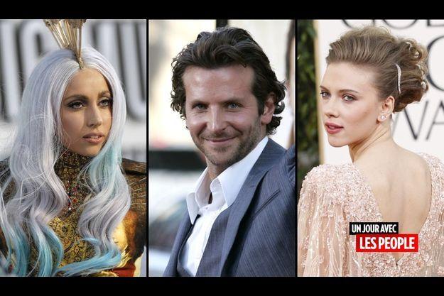 Lady GaGa, Bradley Cooper et Scarlett Johansson